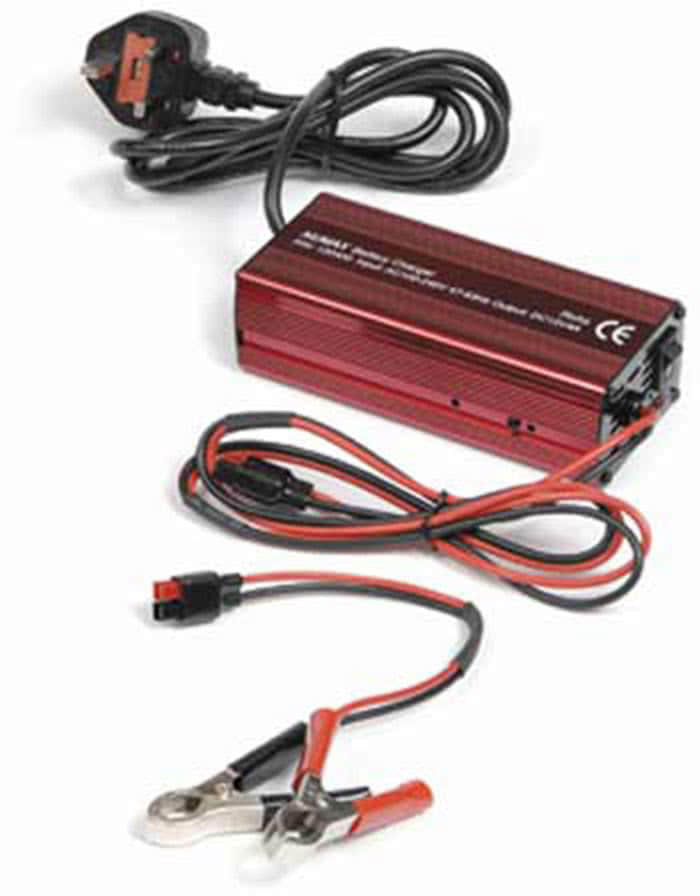 Charging  Battery    on Hooks Into The Car Battery With Another Pair Of Alligator Clips